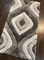 STUNNING RANGE 80X150CM RUGS/MATS TOP QUALITY GREY/CREAM/SILVER 3D SOFT PILE